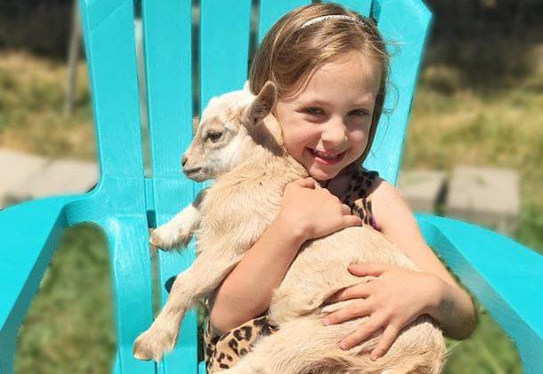 Kids Love Goat Yoga